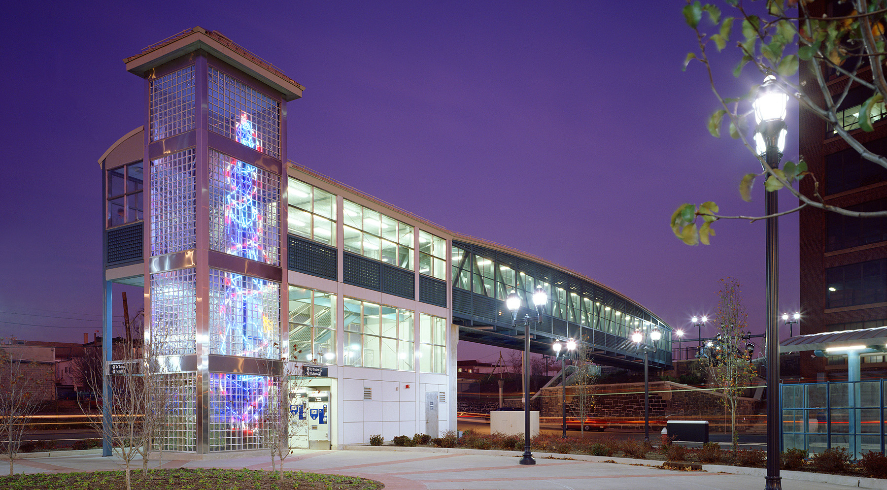 NJ Transit | Design-Build-Operate-Maintain, Hudson-Bergen Light Rail Station, Architectural Design of 21 Stations